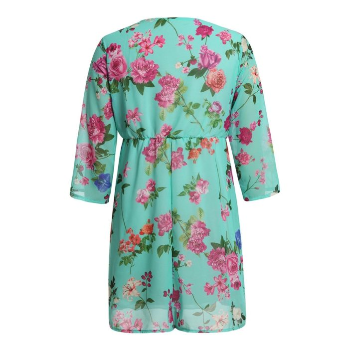 Floral Maternity Dress Pregnancy Clothes