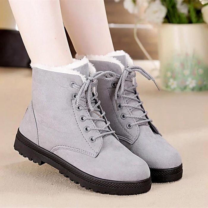Women's Snow Boots Suede Shoes
