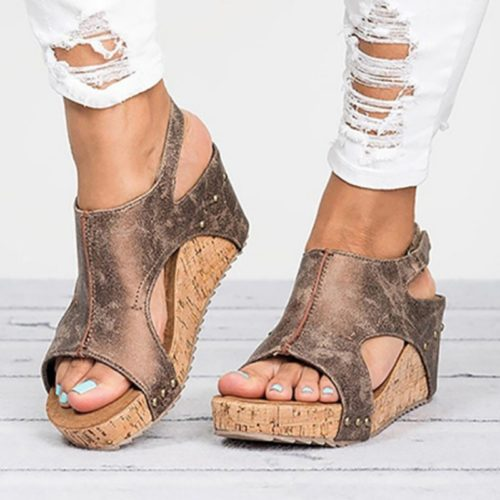 Wedge Heels Platform Sandals