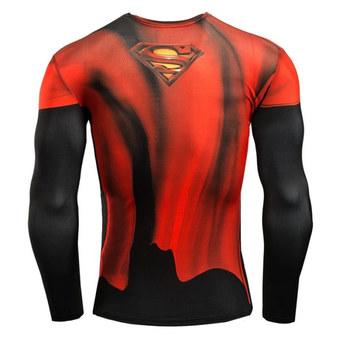 Mens Compression Shirt Superhero Design