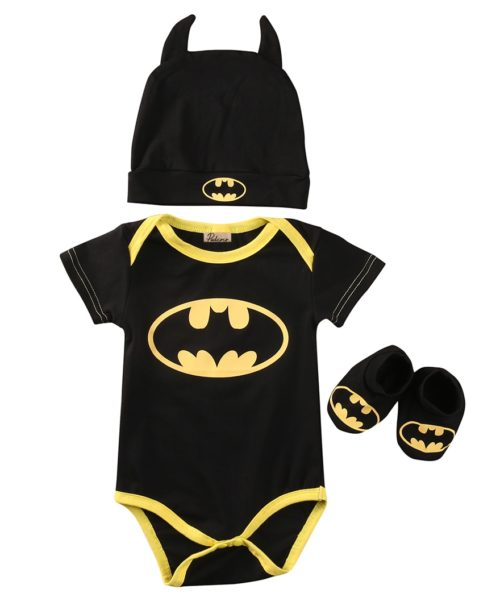 Newborn Onesies Batman Costume Design