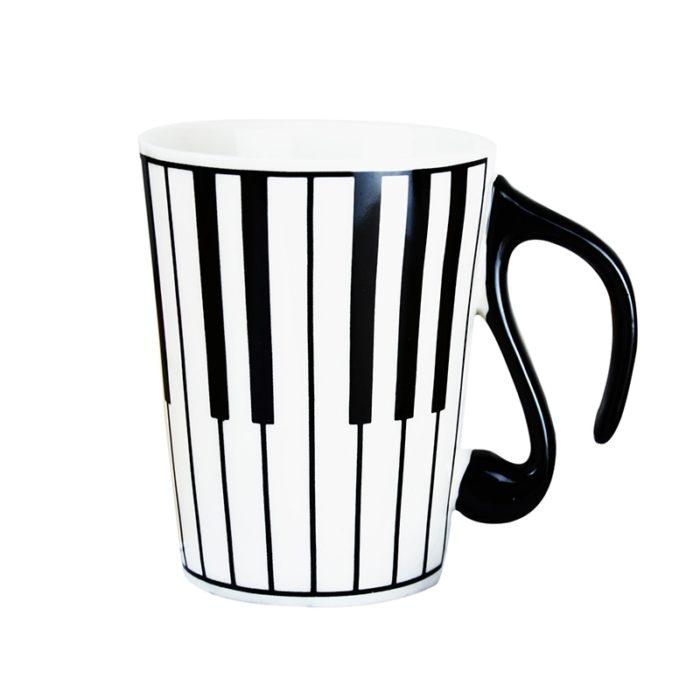 Ceramic Coffee Mugs Piano Musical Note