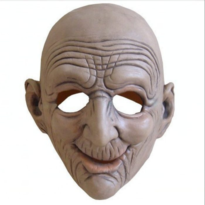 Old Man Mask Halloween Props