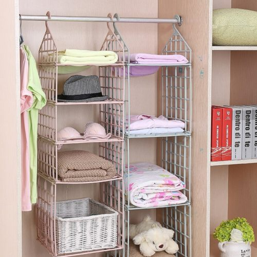 Hanging Shelves Clothes Storage Rack