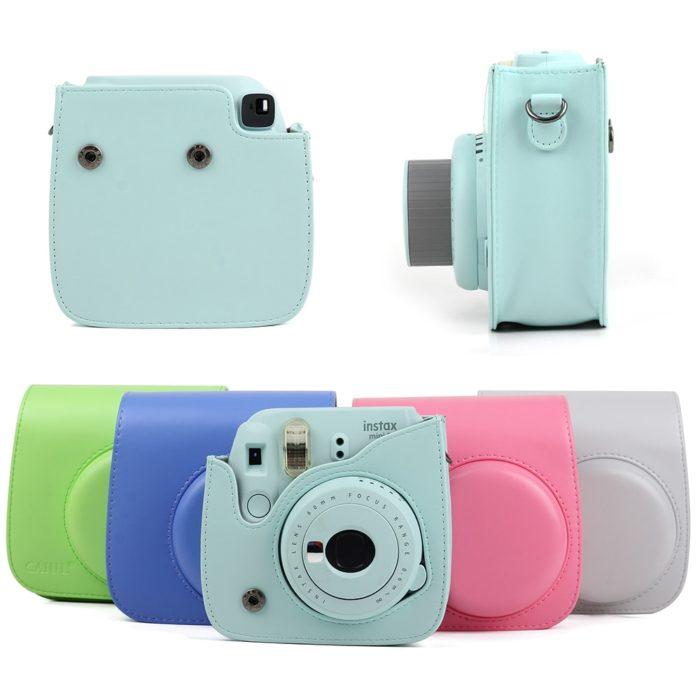 Leather Camera Bag Instax Mini Case