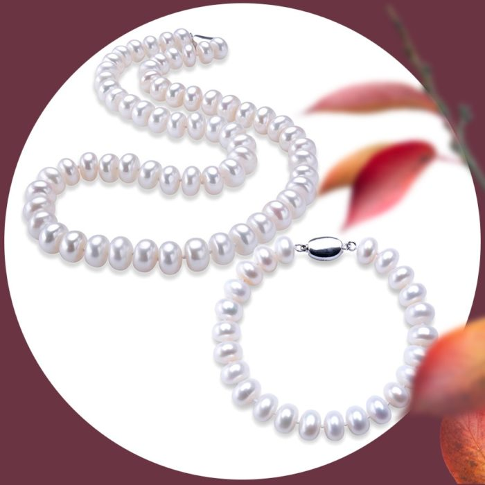 Freshwater Pearl Necklace Ladies Jewelry