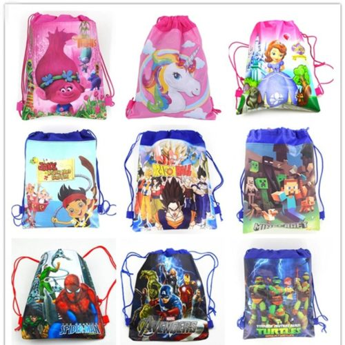Drawstring Bag Cartoon Backpack