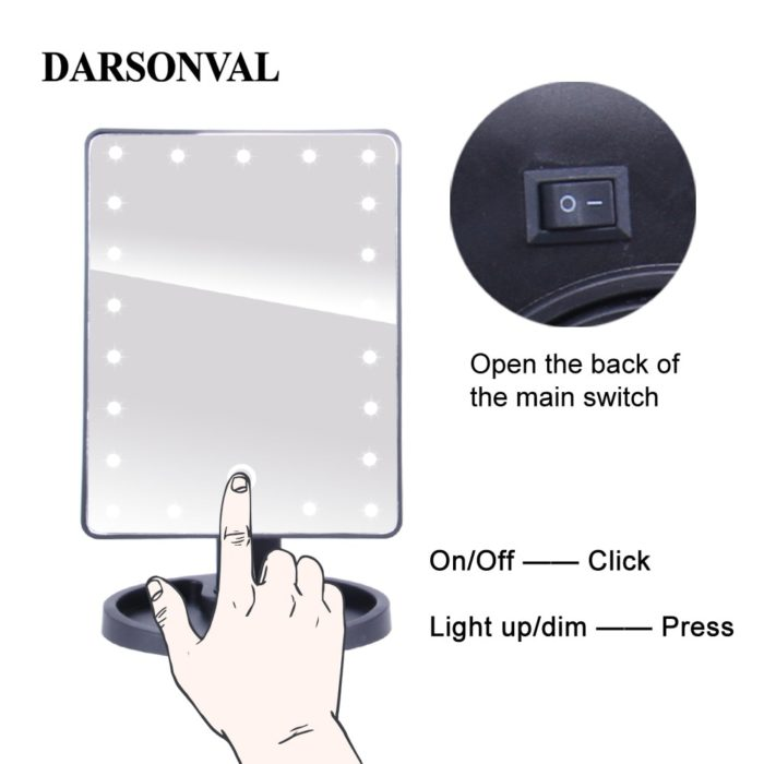 Illuminated Mirrors Touchscreen Switch