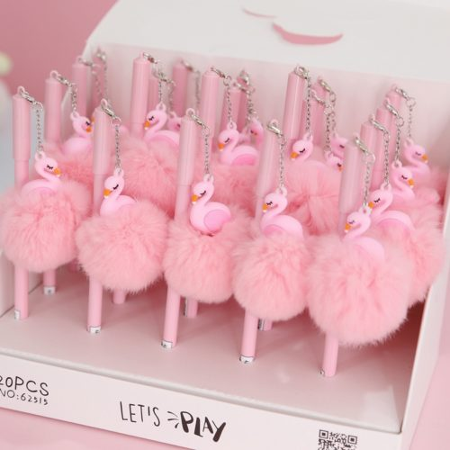 Sign Pen Gel Ink Cute Flamingo