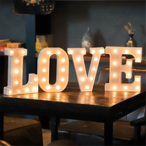 Light Up Letters LED Decoration