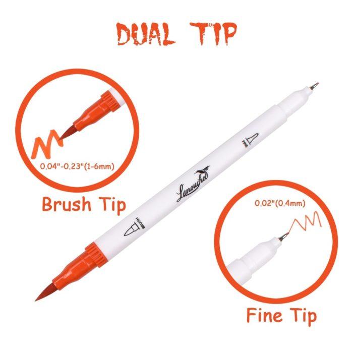 Brush Markers Pens Dual Tip
