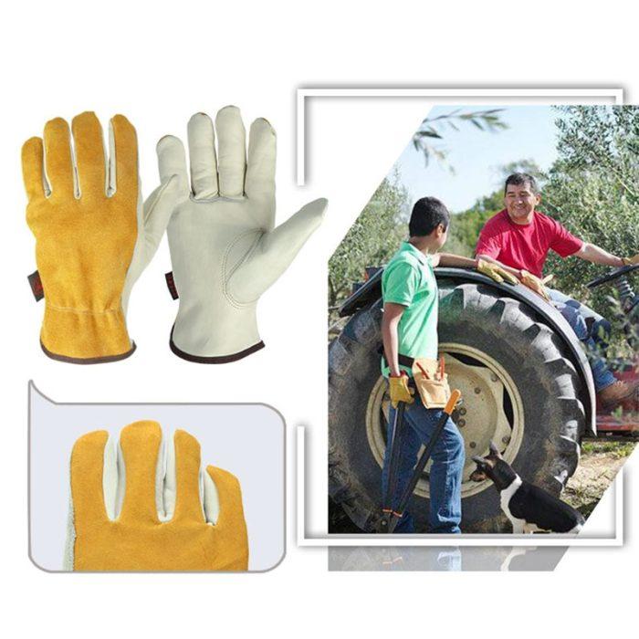 Leather Work Gloves Safety Wear