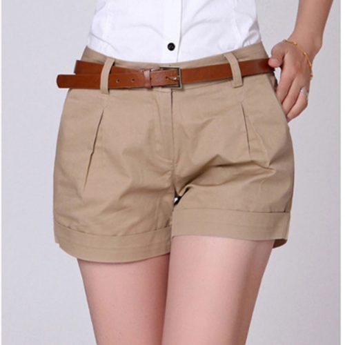 Khaki Shorts for Women Casual Wear