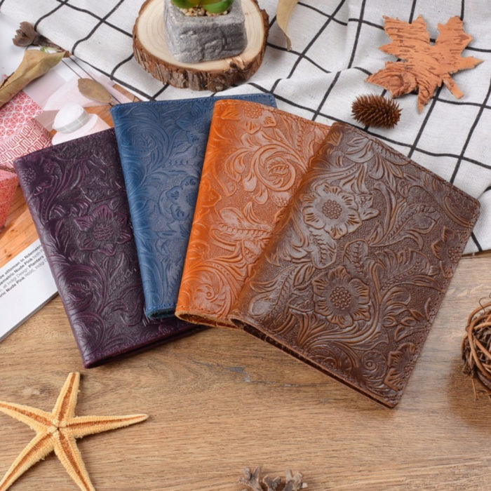 Leather Passport Holder Travel Wallet