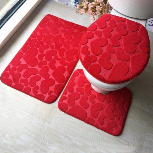 Bathroom Rug Sets 3PC Anti-Slip Mats