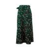 Leopard Print Midi Skirt Women's Fashion