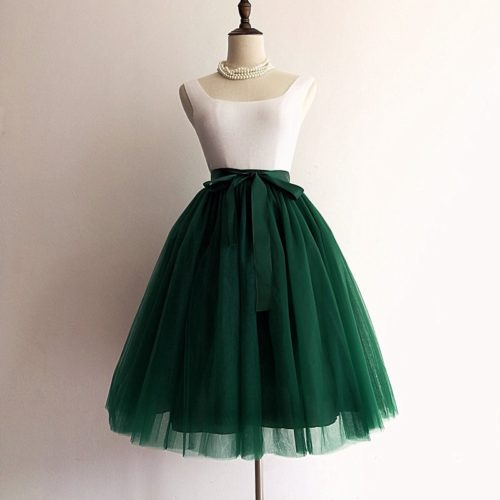 Womens Tulle Skirt Midi Length