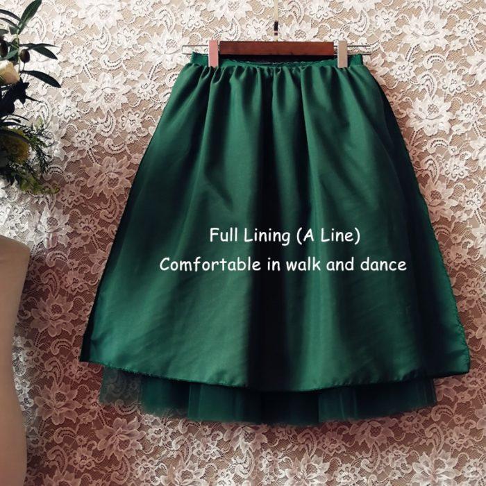 Womens Tulle Skirt Midi Length