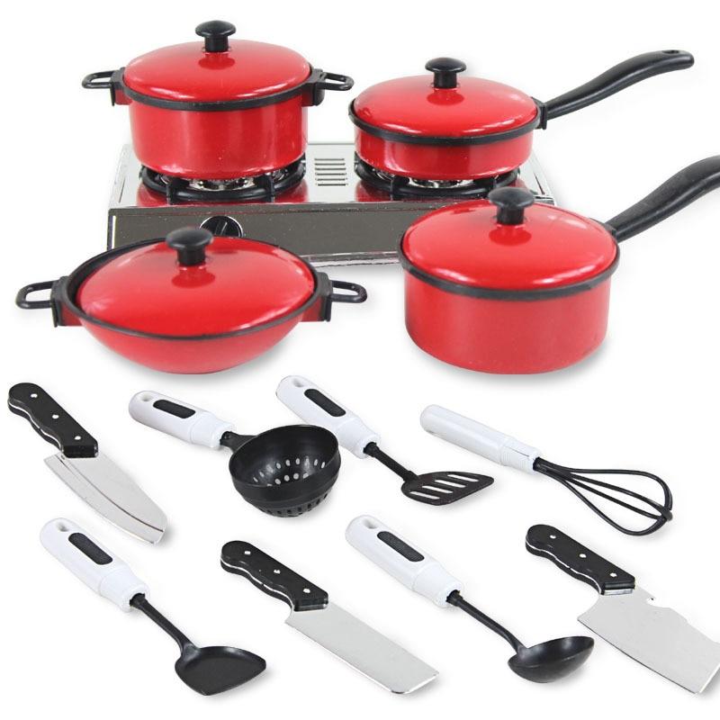 Kids Kitchen Set 13PC Toy Cooking Kit