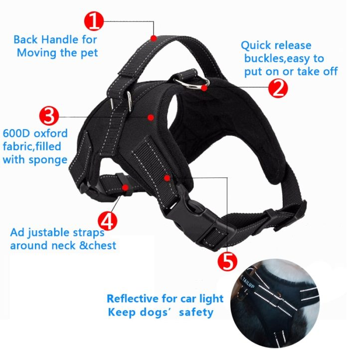Large Dog Harness Pet Accessories