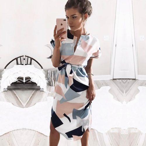 Bohemian Style Dresses Geometric Pattern
