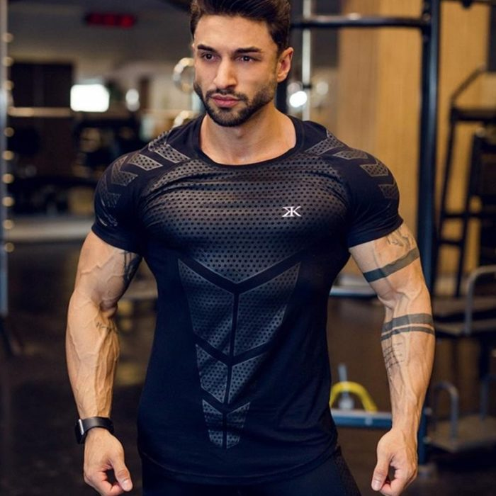 Compression Shirt Men Workout Top