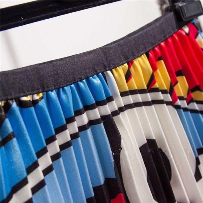 Pleated Maxi Skirt Sesame Street Print
