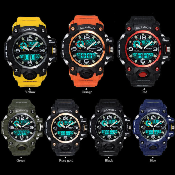 Wristwatch Rubber Digital Timepiece