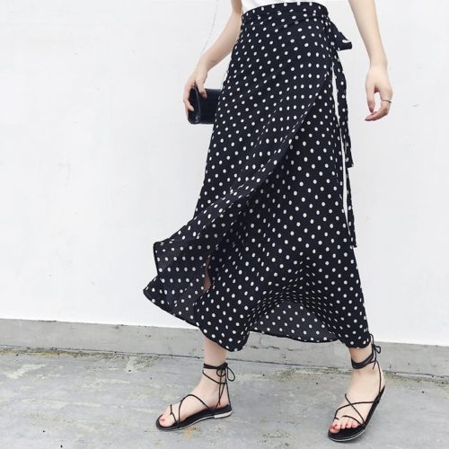 Chiffon Maxi Skirt Printed Design