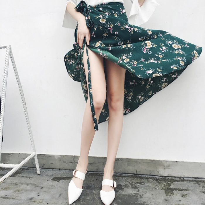 Chiffon Maxi Skirt Printed Design