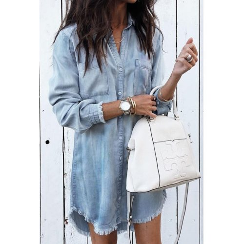 Denim Dress Ladies Wear