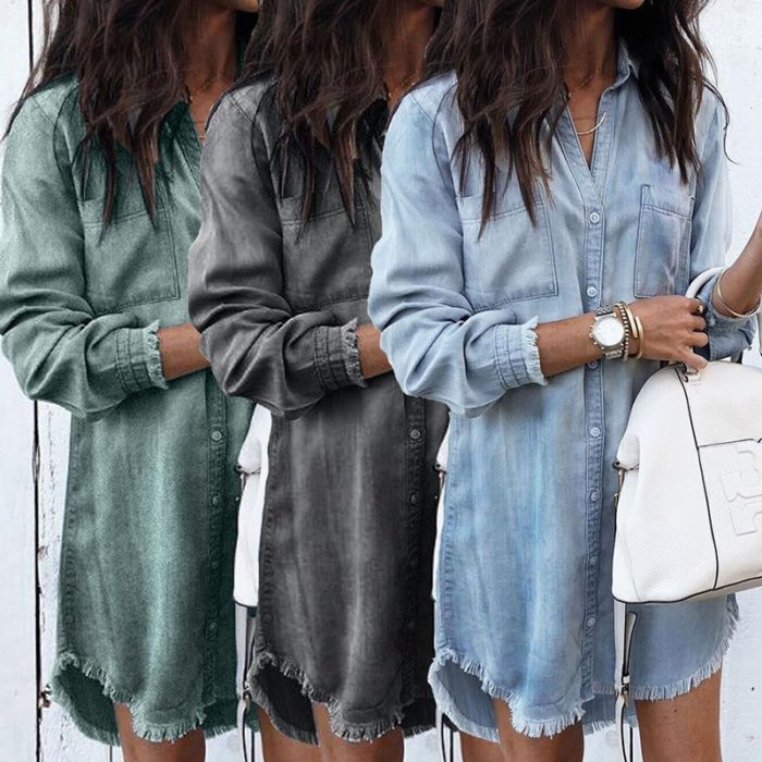 Denim Dress Ladies Wear