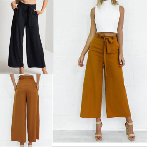 Palazzo Pants Womens Loose Long Pants
