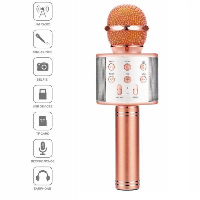 Bluetooth Karaoke Microphone Wireless Mic