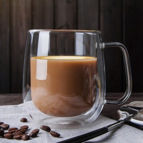 Glass Coffee Mugs Double Wall Drinkware