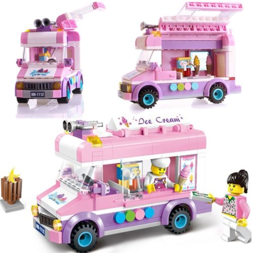 Toy Blocks Set Ice Cream Pizza Truck