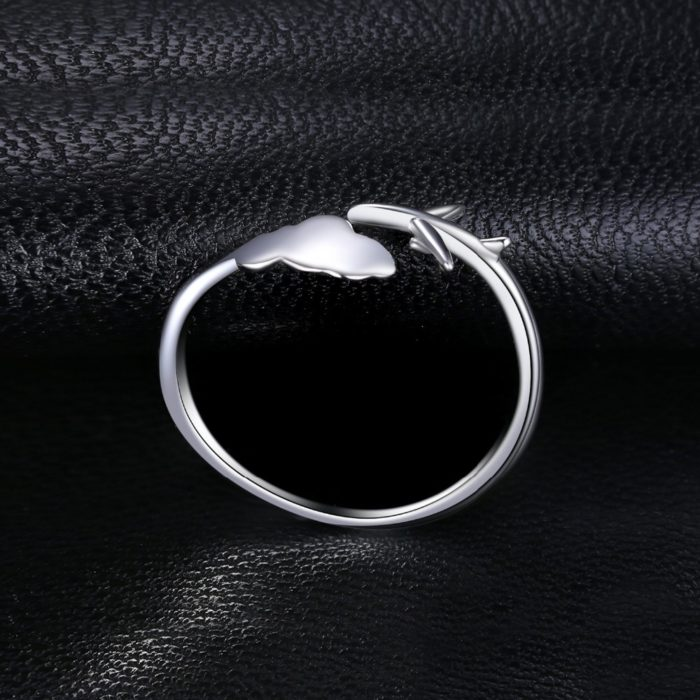 Silver Jewellery Airplane Ring