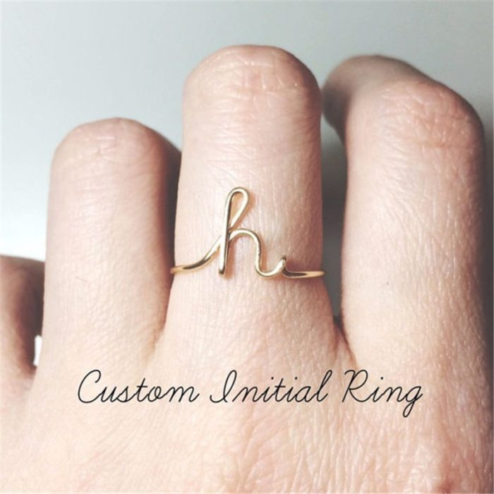 Personalized Rings Name Initial