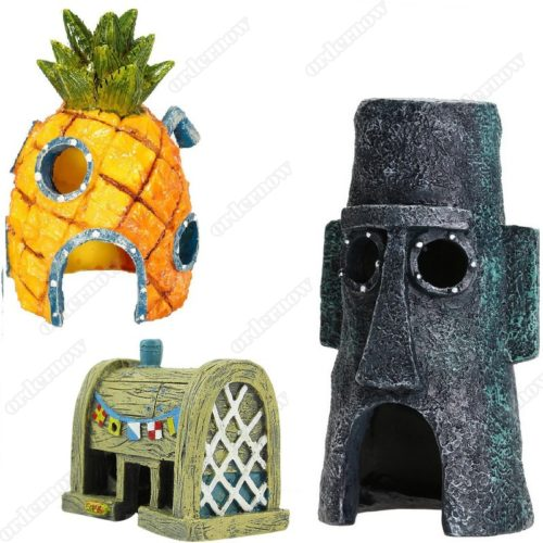 Fish Tank Ornaments Spongebob Design