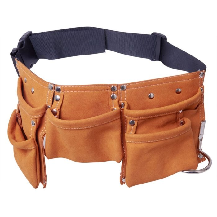Leather Tool Belt Multi-Pocket Bag