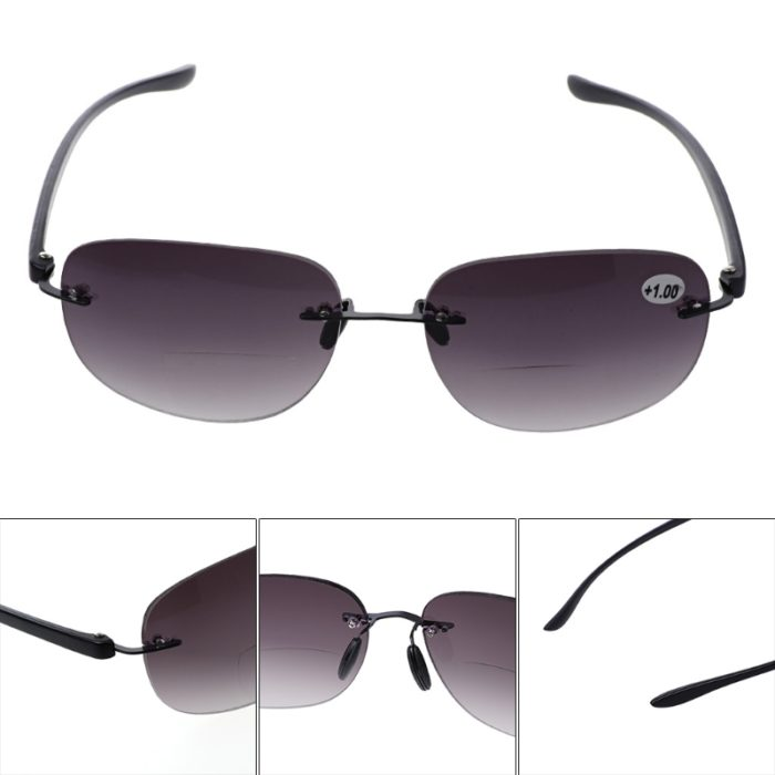 Bifocal Glasses Rimless Eyewear