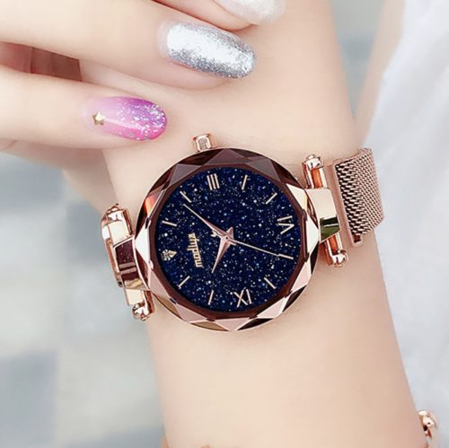 Luxury Watches Mesh Strap Wristwatch