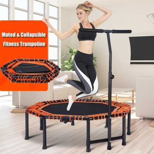 Indoor Trampoline With Adjustable Handrail