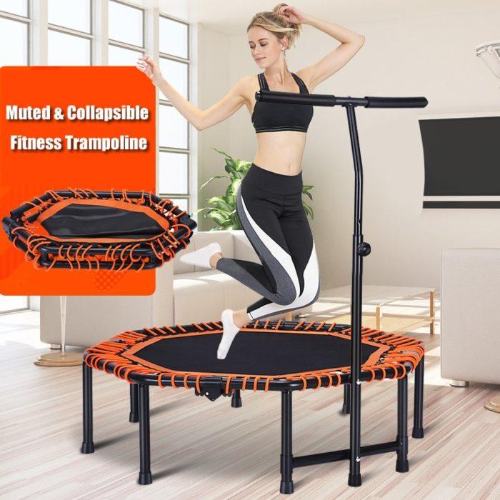 Indoor Trampoline With Adjustable Handrail
