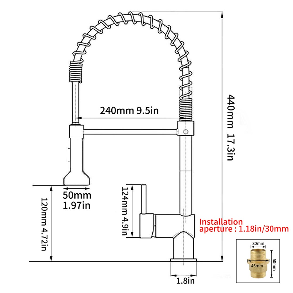 brass kitchen faucet water spout