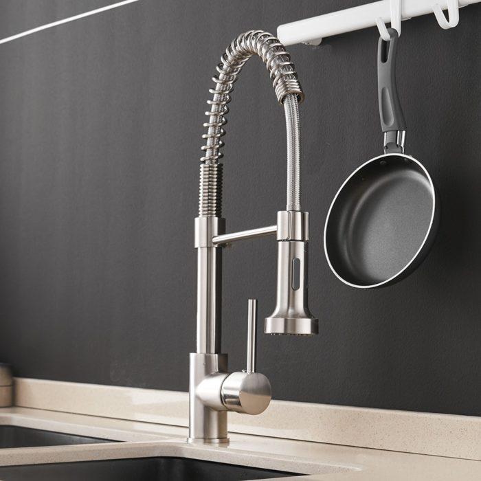 Brass Kitchen Faucet Water Spout