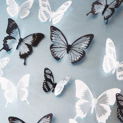 Removable Wall Decals 3D Butterflies