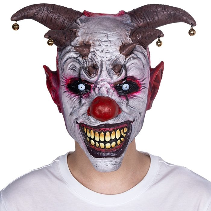 Scary Clown Mask Halloween Costume