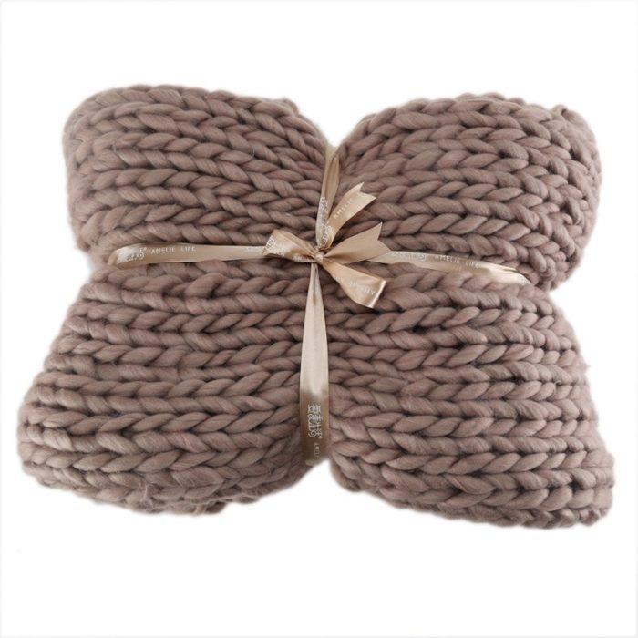 Giant Knit Blanket Acrylic Fabric
