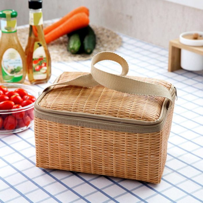 Wicker Baskets Insulated Picnic Bag